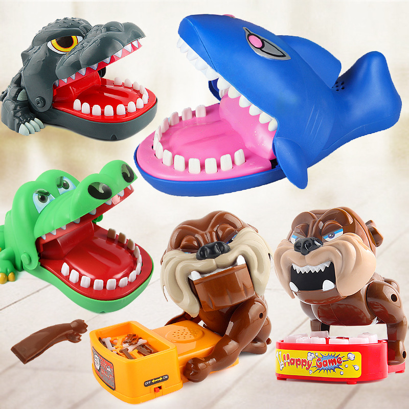 Free Shipping New bites peoples toy Dogs/shark/crocodile Family day Parents and child Enjoy the Spoof toy Education Interactive ...