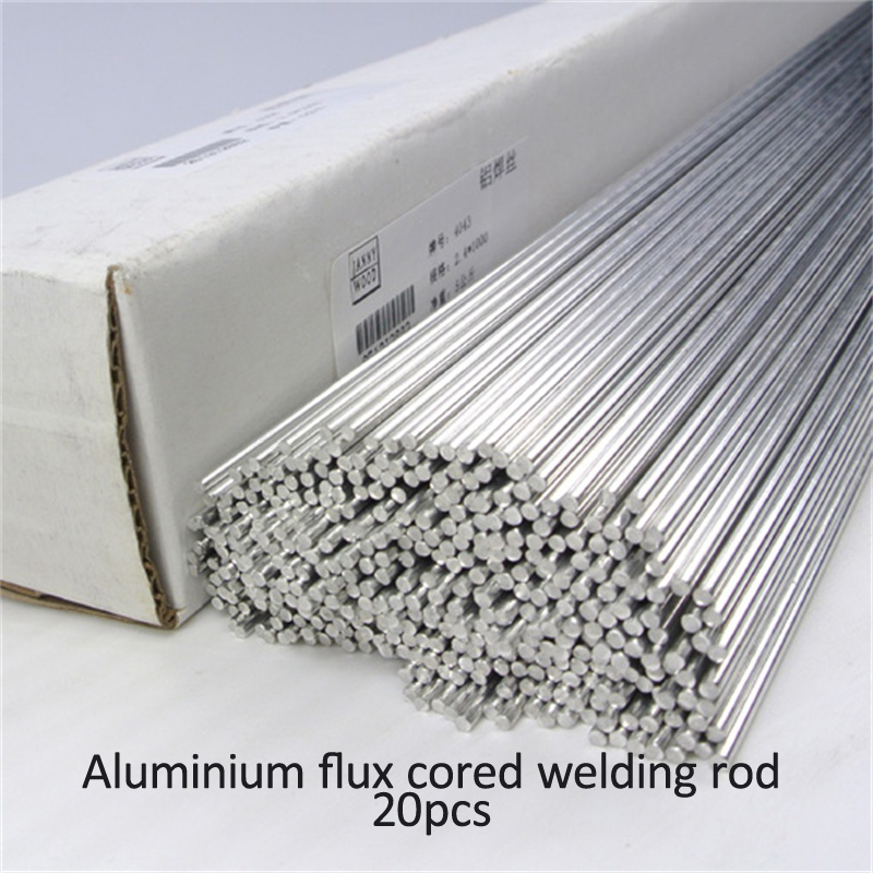 20pcs 2mm*50cm Low temperature cored aluminum welding wire No need aluminum powder Instead of WE53 copper and aluminum rod