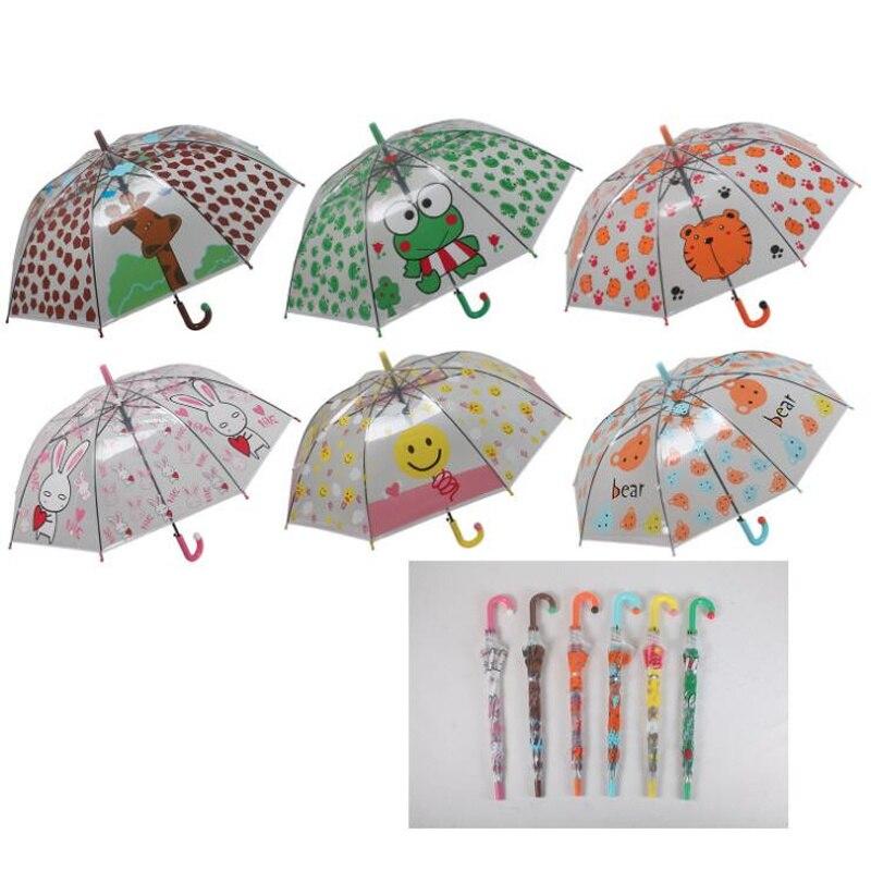 مظلات جديدة للأطفال ذات منحنى طويل ومقبض شفاف مظلة مطر للأطفال أشكال حيوانات كرتونية مظلة شفافة للبنات والأولاد Ys116 المظلات Aliexpress