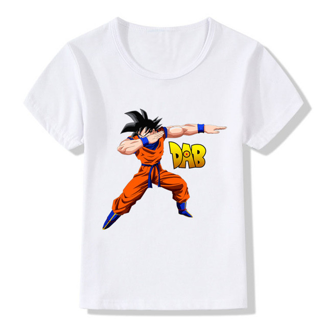 a5039d51d 2018 Children Dabbing Dragon Ball Z Goku T-shirt Kids Summer Tops  Boys/Girls Clothes Anime Baby T shirt,HKP2184