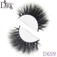 D659 New 3D False Eyelashes Natural Long Fake Lashes 100 Handmade Mink Full Strip Black Eye