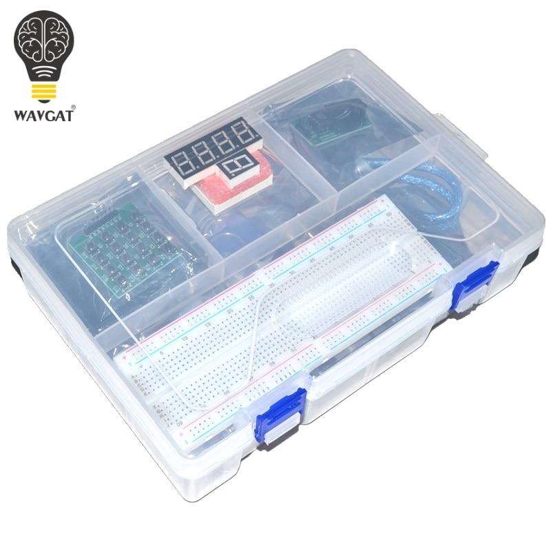 Nouveau Kit de démarrage RFID pour Arduino UNO R3 version améliorée Suite d'apprentissage avec boîte de vente au détail WAVGAT