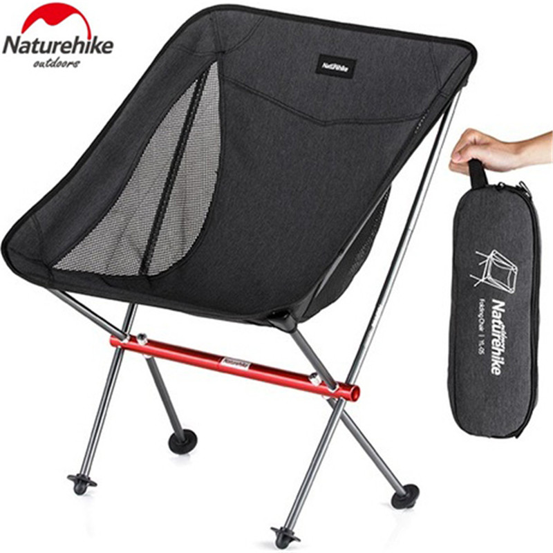Image 2 - Naturehike Portable Folding Chair Outdoor Ultralight Fishing Stool Director Camping Beach Chair Art Sketch Chairs-in Camping Chair from Sports & Entertainment