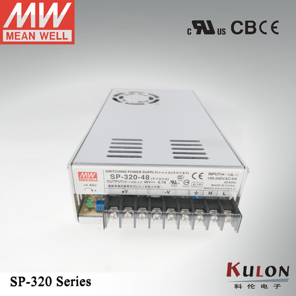 320W 6.7A 48V Power Supply Meanwell SP-320-48 with PFC function UL TUV CB EMC CE environment human rights and international trade