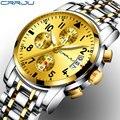 CRRJU Marke Mode Chronograph Sport Uhren Reloj Hombre Edelstahl Band Quarz Militär Uhr Relogio Masculino|Quarz-Uhren|Uhren -