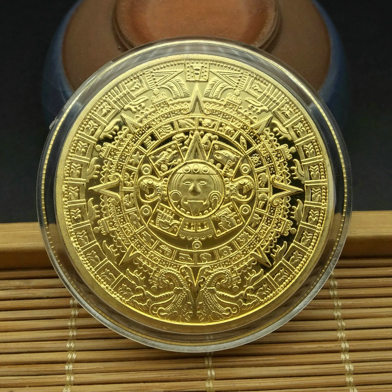 Gold Antique Bitcoin Collectible Art Commemorative Coin Collectible Gift Lucky Gold Plated Coin Bit BTC Metal Imitation40x1.5mm-4