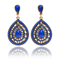 Italian Latest Spring Jewelry Women Bohemia Acrylic Water Drop Long Earrings Party Wedding Earrings Vintage Best