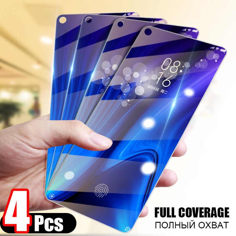 4 Pcs Tempered Glass untuk Huawei P30 P20 Pro Mate 20 10 Lite Screen Protector Pelindung Kaca untuk Kehormatan 20i 20 10i 8 S 8X9 Kaca