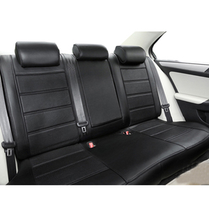 Image 3 - Carnong غطاء مقعد السيارة الجلود مخصص صالح لل مقعد السيارة الأصلي نفس الهيكل مغطاة بالكامل حامي غطاء مقعد السيارات