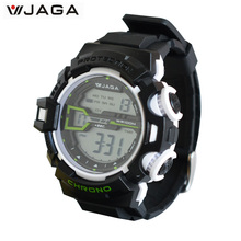 JAGA Men's Military Watch Sports Watches Dive Swim Climbing LED Digital Fashion Outdoor Men Wristwatches M1107