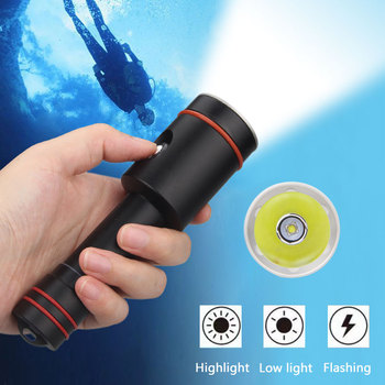 Underwater 100m waterproof LED diving tactical flashlight 1000 Lumens photography Video fill light for 18650 battery waterproof scuba diving 18650 flashlight 14 ledtorch light lamp for diving underwater photographing video