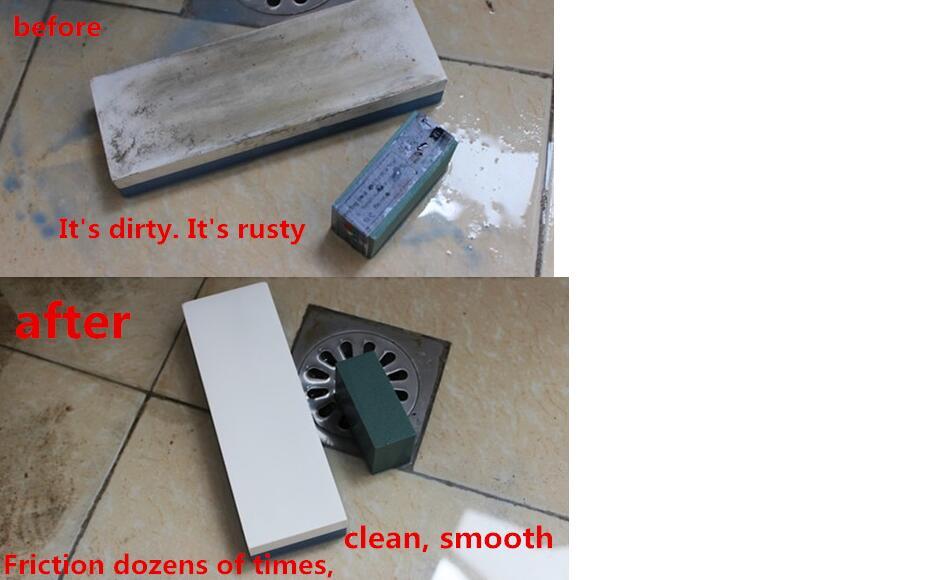 Sharpening Stone 2-sided Grindstone F Outdoor Kitchen Sharpener Whetstone C8F6
