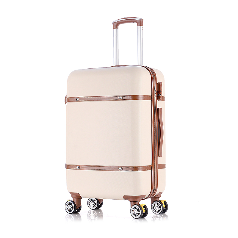 Vintage luggage trolley luggage female 24 universal wheels luggage bag travel bag 20 box,retro abs=pc hardside travel luggage