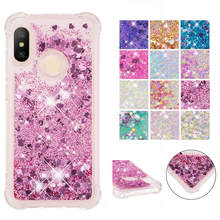 For Xiaomi Mi A2 Lite case Back cover Bling Glitter Dynamic Quicksand Liquid Case for / Redmi 6 Pro 6A Cover