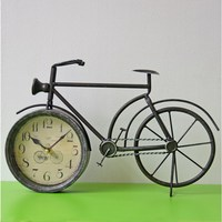 Antique Style Clocks Vintage Metal Bicycle Bike Desk Clock Home Decoration Retro Table Clock Ornament