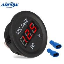 Универсальный вольтметр adpow с ЖК дисплеем 12 24 В постоянного