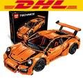 Nueva LEPIN 20001 serie técnica 911 GT3 RS Coche de Carreras Kits de Edificio Modelo Bloques Ladrillos Compatibles 42056 Niños Regalos