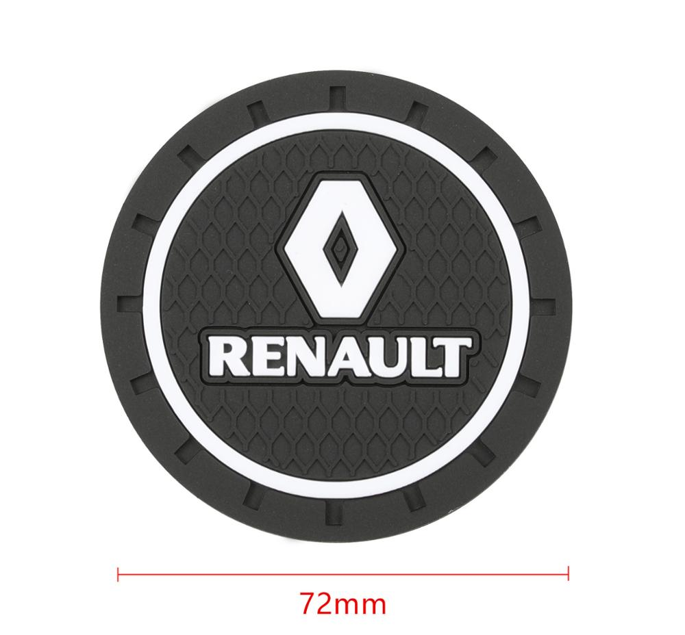 Image 2 - 2PCS Car Water Cup Bottle Holder Anti slip Pad Mat Silica Gel for Renault Laguna 2 Captur Fluence Megane 2 Megane 3 Scenic-in Car Tax Disc Holders from Automobiles & Motorcycles