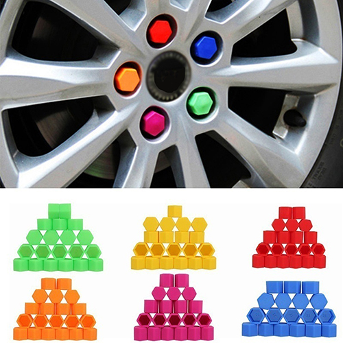 20 Pcs/set hot sale 19mm <font><b>Silicone</b></font> <font><b>Car</b></font> <font><b>Wheel</b></font> <font><b>Nut</b></font> Screw <font><b>Cover</b></font> <font><b>Car</b></font> Rims Exterior Bolt Caps image