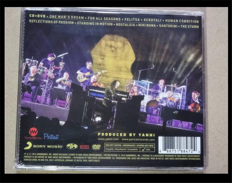 2018 Real Smok Alien Marsha For Vaporesso Revenger Yanni The Dream Concert  Tour Egypt Cd New Free Shipping -in CD/DVD Player Bags from Consumer