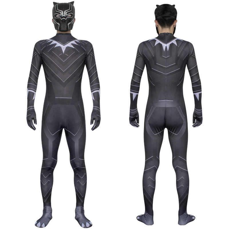 Черная пантера, косплей, костюм на Хэллоуин для мальчиков, детей, взрослых, детей, мужчин, боди, комбинезон, костюм + маска, шлем