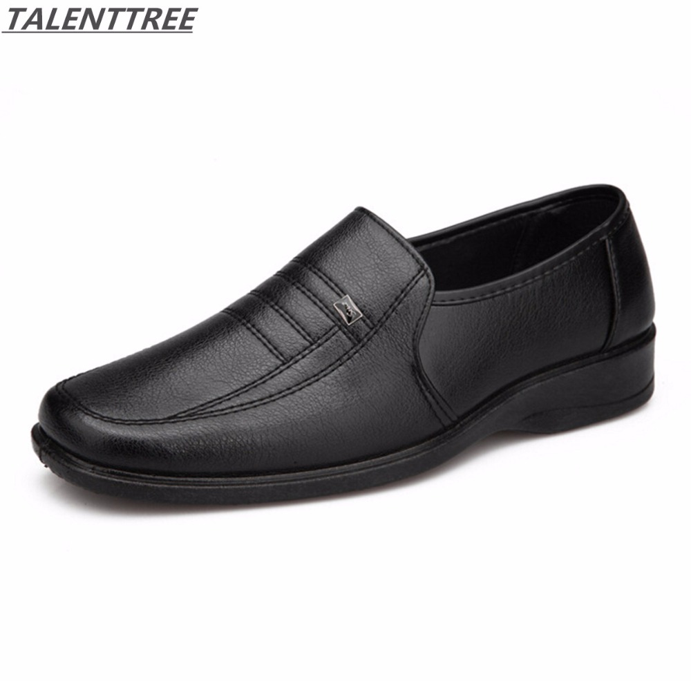 Hot sale cheap shoes spring mens pu leather shoes black male casual work shoes, comfort breathable mens Soft bottom oxfords