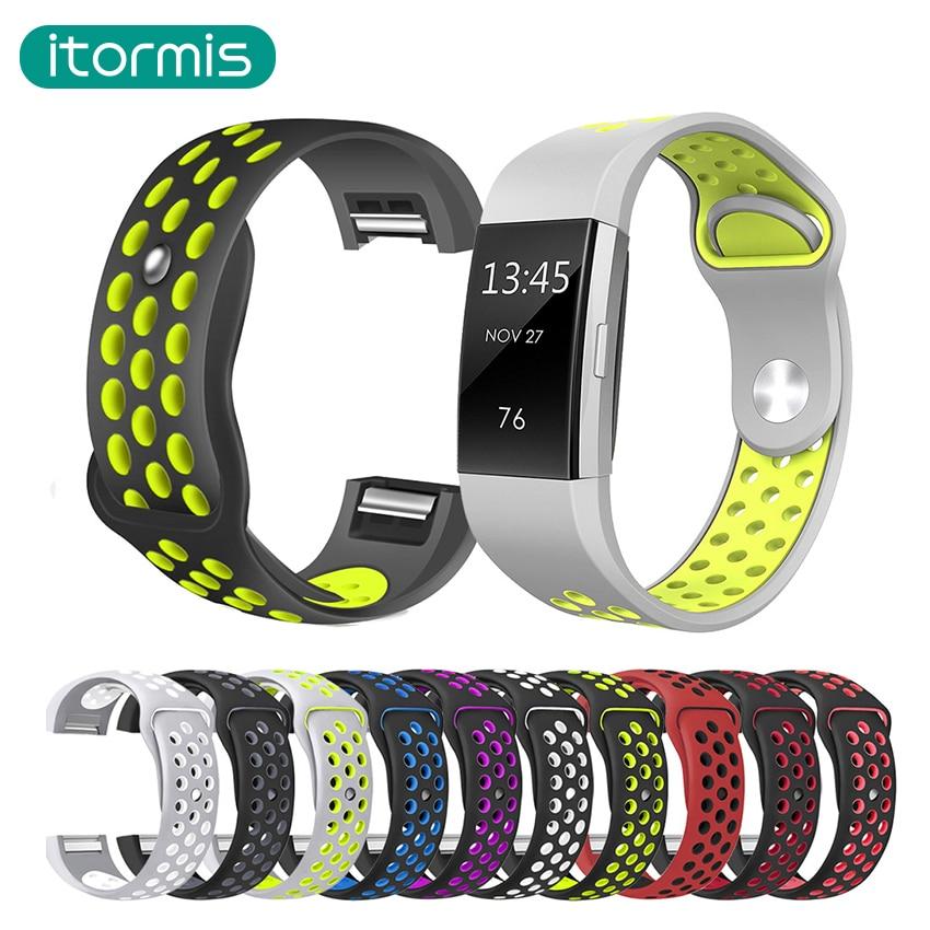 Силиконовые Ремешки для наручных часов для FitBit заряда 2 замена ремешок для fitbit заряд 2 браслет Умные браслеты двойной цвет