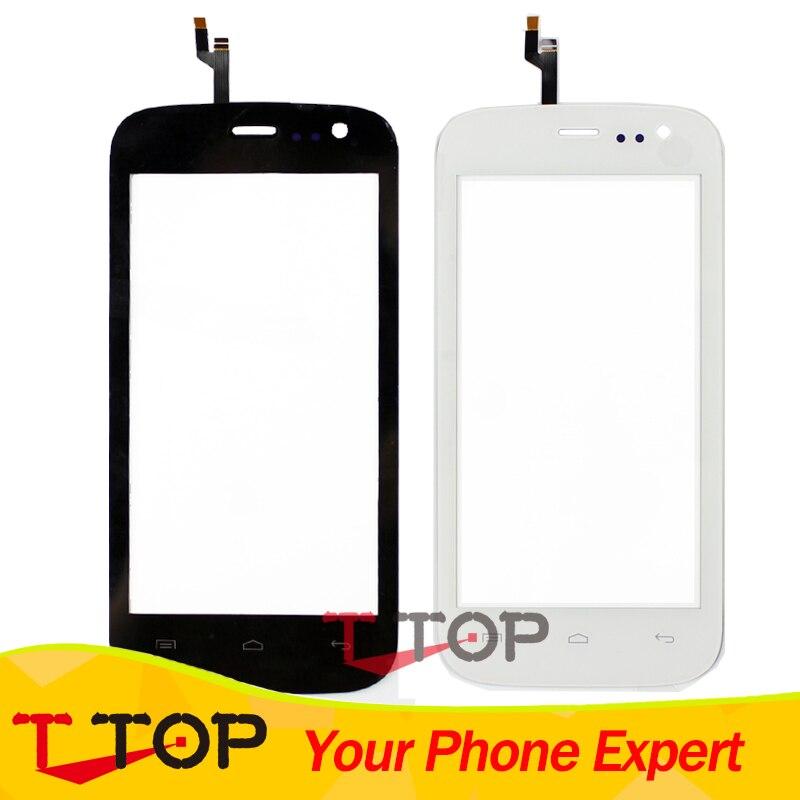 100% NOUVEAU Écran Tactile Pour Mobistel Cynus F4 Écran Tactile Digitizer Façade En Verre Len Noir Blanc Couleur 1 PC/Lot