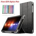 Luxury Slim Tablet Cover Case For HuaWei MediaPad T1 8.0 Inch S8-701U S8-701W T1-821W T1-823L Tablet Funda Case Cover Capa +Pen