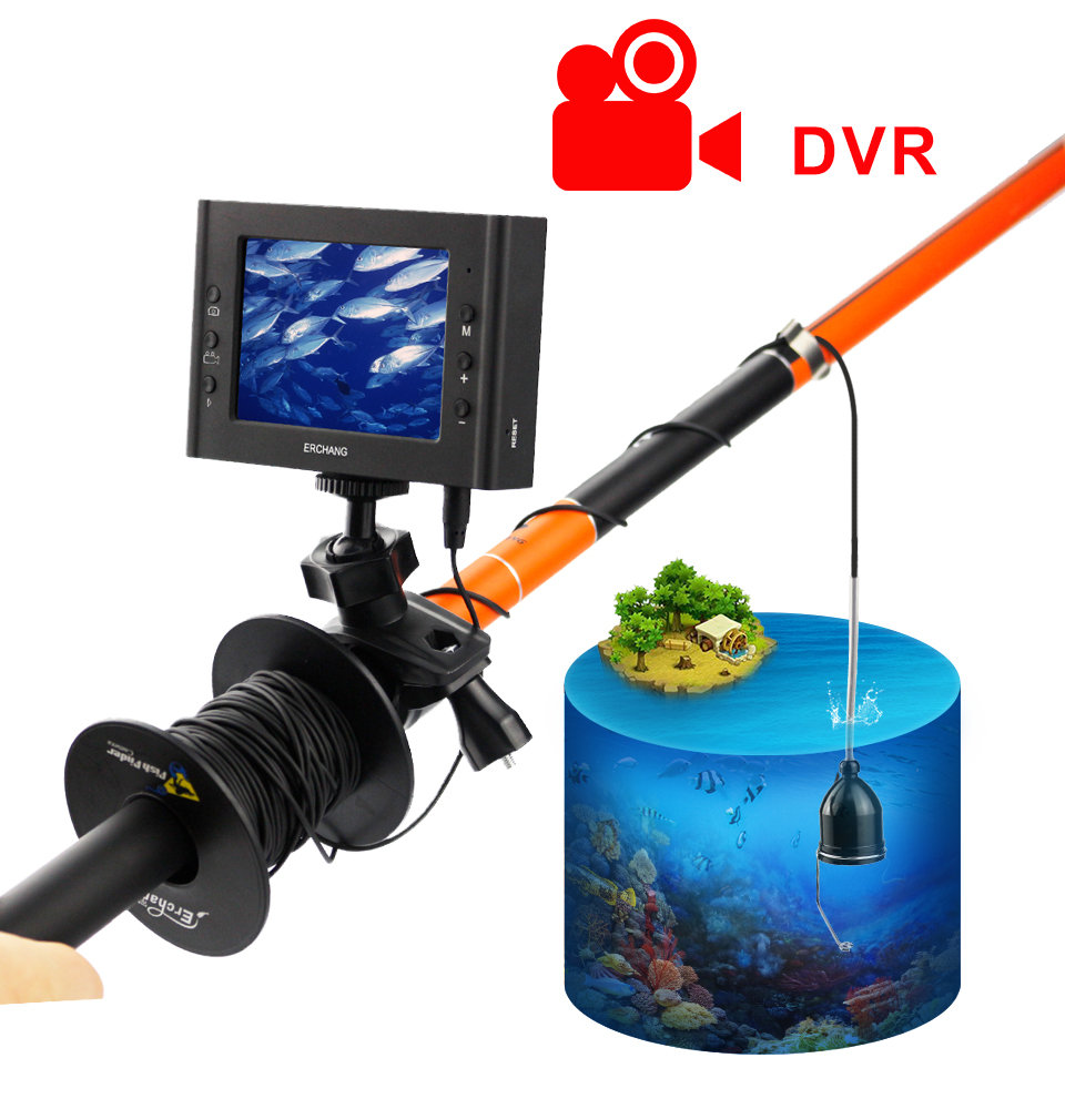 Erchang Fish Finder Underwater Fishing Camera 3 5 4 5 Inch 1000TVL Waterproof Video Underwater Camera