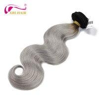XBL HAAR Ombre # 1B/grau Menschliches Haar Extensions 1 stück Brasilianische Reine Haarkörperwelle Menschenhaar Spinnt freies Verschiffen