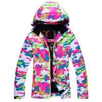 Skiing Jacket Women Outdoor Sport Coat Warm Windproof Waterproof Breathable Sportswear Winter Ski Jackets