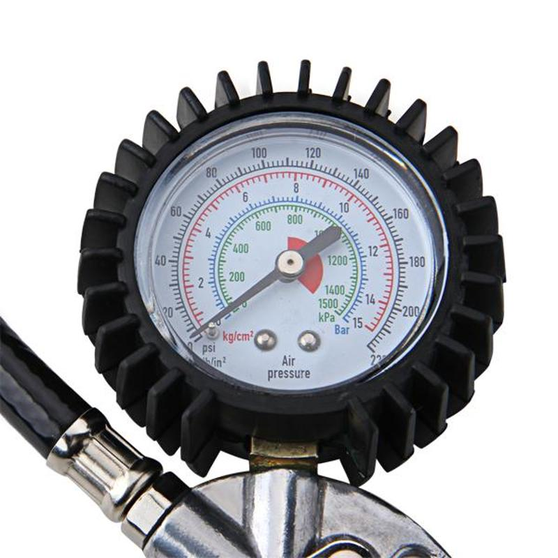 Air Auto Truck Bike Tire Tyre Inflating Inflator Tool Pressure Dial Gauge