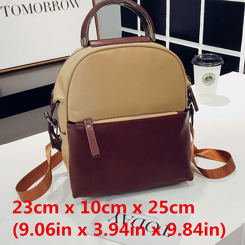 Miyahouse Fashion Panelled Color Woman Backpack High Quality Pu Leather Lady Rucksack Casual Travel Bag For Teenage Girls #4