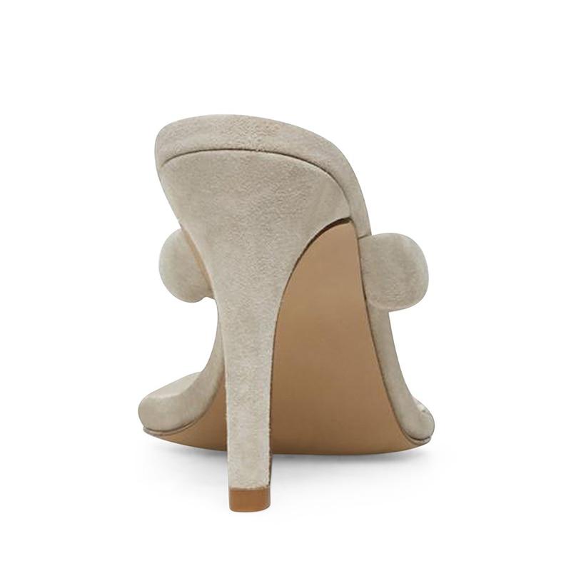 Модные женские сандалии на высоком каблуке; Цвет Черный; вьетнамки на каблуке; цвет бежевый; женские летние туфли на шпильке; большие размеры; 2019 - 4