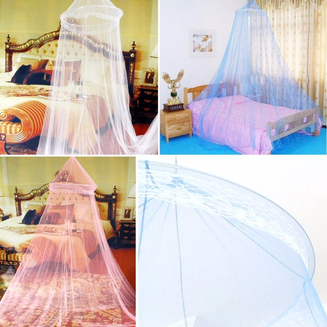 new Elegant Round Lace Insect Bed Canopy Netting Curtain Princess Students Outdoor solid Mosquito Net Hang & new Elegant Round Lace Insect Bed Canopy Netting Curtain Princess ...
