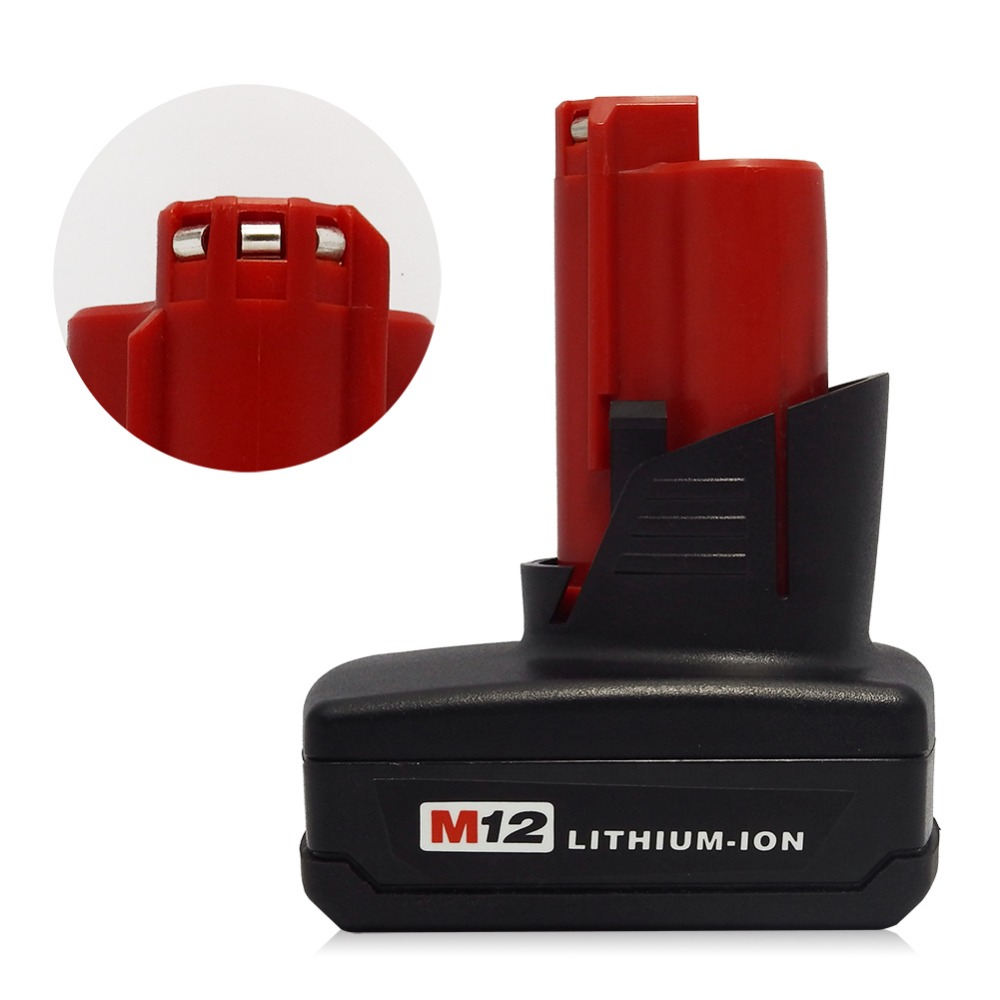 2PCS M12 12V 5000mA Li-ion Rechargeable battery FOR MILWAUKEE 4000mAh M12 battery 48-11-2401 48-11-2402 C12 B C12 BX 4.0AH 5.0Ah 3pcs 12v lithium ion 1500mah power tool rechargeable battery with charger replacement for milwaukee m12 48 11 2401 48 11 2402