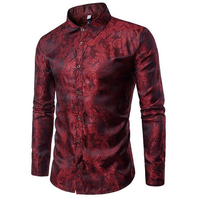 Famous Loldeal Silk Shirts Men 2018 Promotion Autumn Long Sleeve Casual  LB34