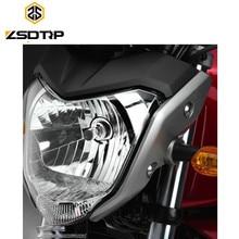 Zsdtrp Бесплатная доставка высокого качества Универсальный гоночный мотоцикл фар с лампой и кронштейн используется для y.m.h FZ16, фары