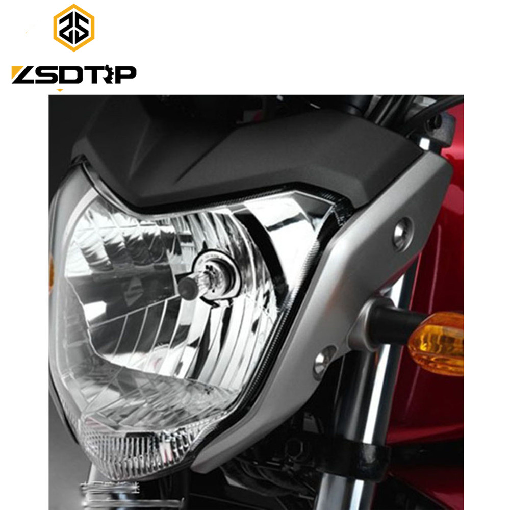 ZSDTRP High Quanlity Universal Racing Motorcycle Headlight With Bulb And Bracket Case For Yamaha FZ16  And Other Headlamp