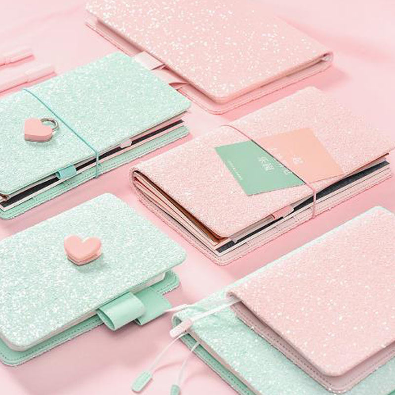 2018 Yiwi Cute Sequin A5 A6 Hobo Planner Travel Notebook Japanese Dairy Stationery 2018 yiwi hobo a6 white clothes planner organizer agenda dairy notebook cover matching hobonichi a5 a6