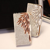 Rhinestone Bling Diamond Stand Flip Wallet Phone Case Cover For Samsung Galaxy S3 S4 S5 S6