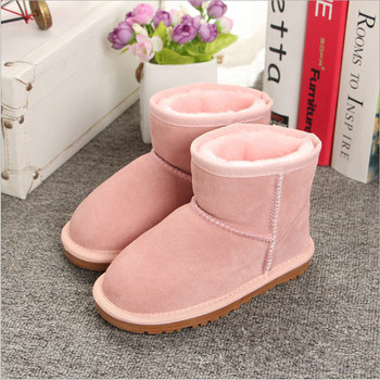 HOT Boys and Girls Australia Style Kids mini Snow Boots Waterproof Slip-on Children Winter Leather Boots Brand Ivg EU 21-35