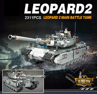 Hot modern military ww2 Germany Leopard 2 tank building block 2in1 model world wars army figures bricks toys collection for gift