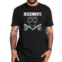 EU Size 100% Cotton T Shirt Descendents Milo Men's Everything Sucks Punk Rock Band Cartoon Tshirts Breathable Fitness Homme Tops