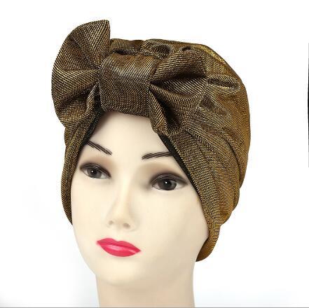 2017 New 10pcs Shiny bow Turban Hat Stylish Chemo skullies Indian cap chemo bandana Wrap cancer hat Cap Chemo slip on bonnet pain management among colorectal cancer patient on chemotherapy