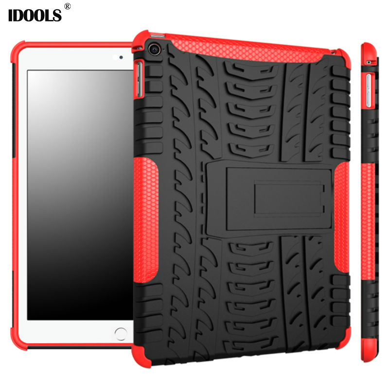 IDOOLS Bag Case For Apple Ipad 6 Cover PC Soft TPU Hybrid Luxury Coque Anti Dust Stand 9.7 Tablet Cases For Ipad Air 2 ipad 6