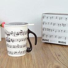 Eine Kreative Keramik Musik-becher Musik-becher Paar Tastatur Becher mit Deckel Kreative Geschenk Becher