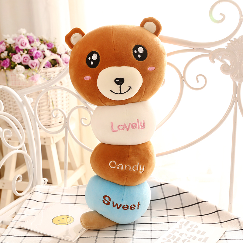 Lovely Sweety Candy Soft Stuff Plush Toy for Unisex Baby Kids for Birthday and Christmas Gift Free Shipping