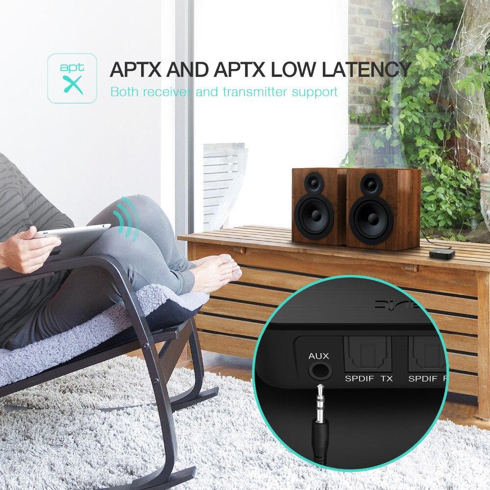 HAVIT 3.5mm Bluetooth adaptateur Audio émetteur récepteur 2-in1 V4.1 sans fil Bluetooth Dongle aptX faible latence numérique HV-BT022 - 6